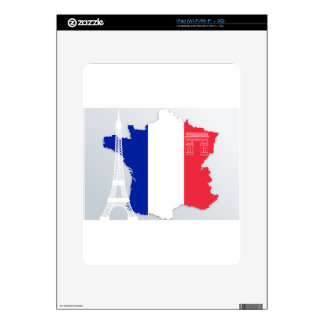 France Flag Blue White Red State Nation Decals For The iPad