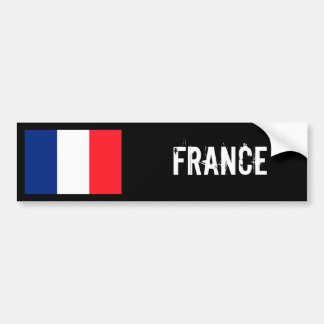 France flag bumper sticker car bumper sticker