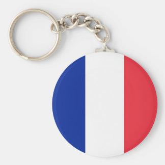 France Flag Button Keychain