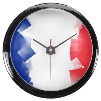 France Flag Cubic Aquarium Clocks