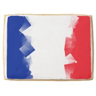 France Flag Cubic Jumbo Cookie