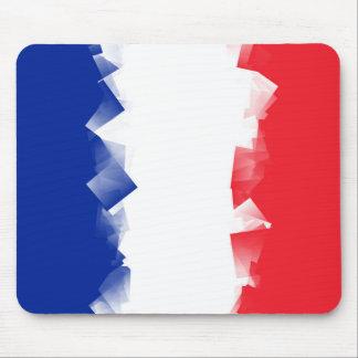 France Flag Cubic Mouse Pad