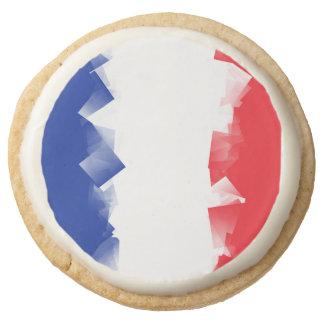 France Flag Cubic Round Premium Shortbread Cookie