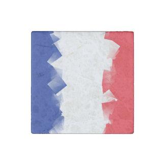 France Flag Cubic Stone Magnet
