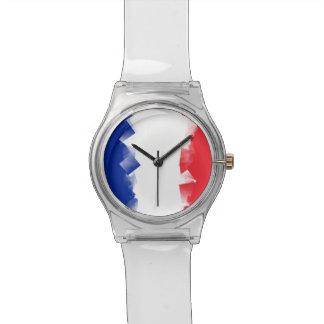 France Flag Cubic Wristwatch