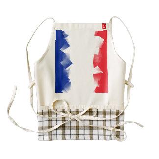 France Flag Cubic Zazzle HEART Apron