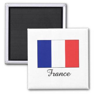 France Flag Design 2 Inch Square Magnet