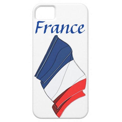 France Flag Design iPhone 5 Case