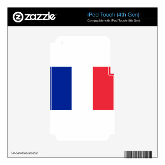 France flag; drapeau iPod touch 4G decals