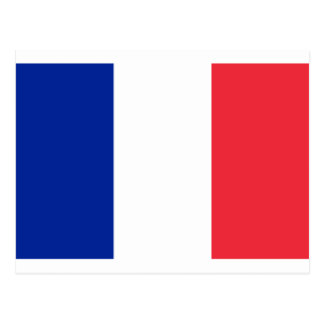 France flag; drapeau postcard
