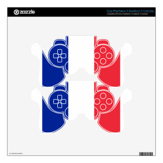France flag; drapeau PS3 controller skin