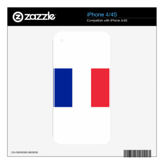 France flag; drapeau skin for the iPhone 4S