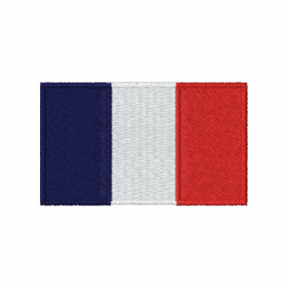 France flag embroidered men's polo shirt