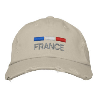 France Flag Embroidery Embroidered Baseball Cap