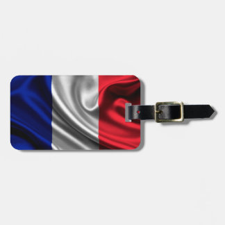 France Flag Fabric Tag For Luggage