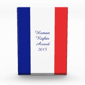 France flag French Acrylic Award