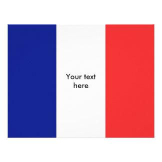 France flag French Letterhead
