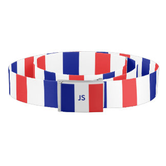 France flag French tricolore Belt