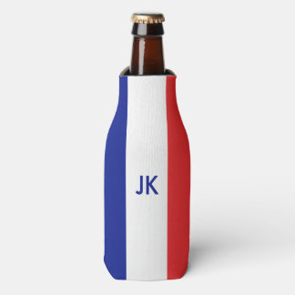 France flag French tricolore Bottle Cooler