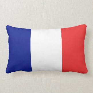 France flag French tricolore Lumbar Pillow