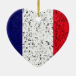 France Flag glitter ornament