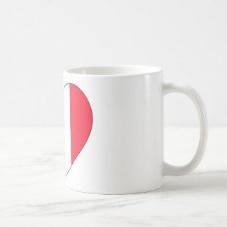 France Flag Heart Coffee Mug