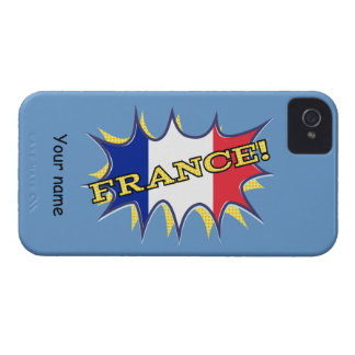 France Flag Kapow Comic Style Star iPhone 4 Case-Mate Case