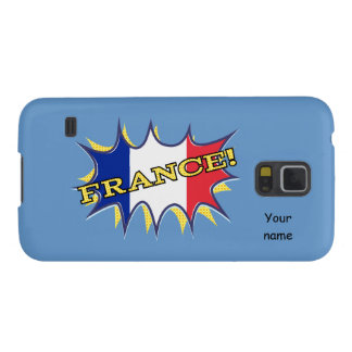 France Flag Kapow Comic Style Star Case For Galaxy S5