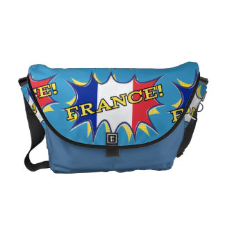 France Flag Kapow Comic Style Star Courier Bag