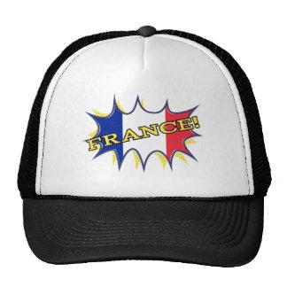 France Flag Kapow Comic Style Star Trucker Hat