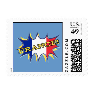 France Flag Kapow Comic Style Star Postage