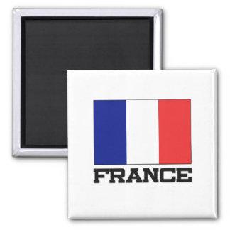 France Flag 2 Inch Square Magnet