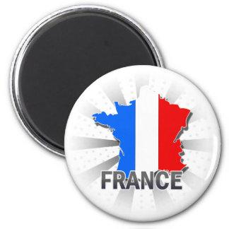 France Flag Map 2.0 Magnet