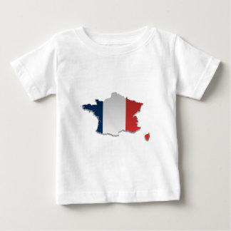 France Flag Map_2 Baby T-Shirt