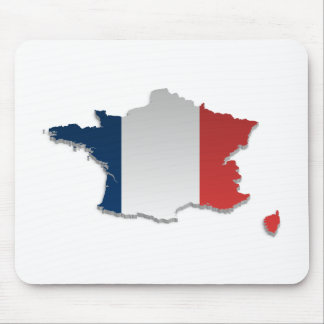 France Flag Map_2 Mouse Pad
