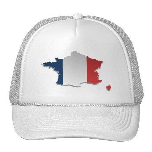 France Flag Map_2 Trucker Hat