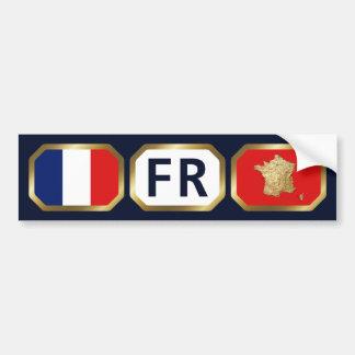 France Flag Map Code Bumper Sticker