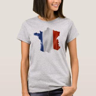 France Flag Map Design T-Shirt