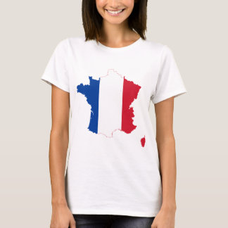 France Flag map FR T-Shirt