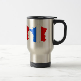 France Flag Map full size 15 Oz Stainless Steel Travel Mug