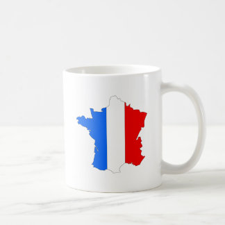 France Flag Map full size Classic White Coffee Mug