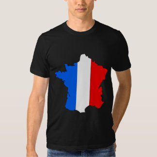 France Flag Map full size Shirts