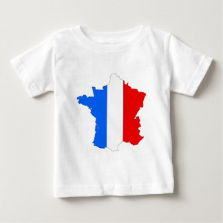 France Flag Map full size T Shirts