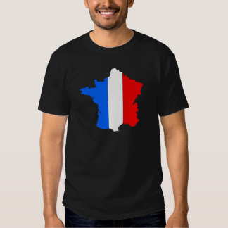 France Flag Map full size Tee Shirt