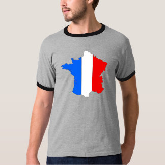 France Flag Map full size Tee Shirts