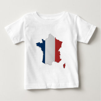 France Flag Map T Shirt