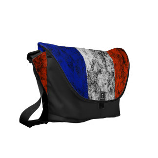 france flag messenger bag