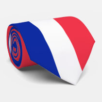France Flag Neck Tie