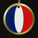 France Fisheye Flag Ornament