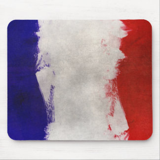 France Flag Paint Grunge Design Mouse Pad